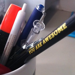 Ha, just noticed the other side of my #webstock pencil