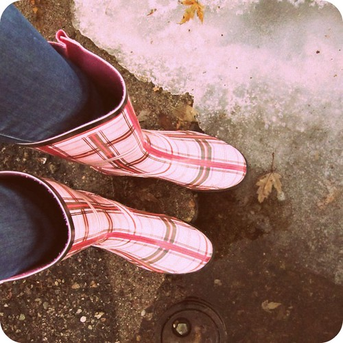 rain boots in winter  the both and  shorts and longs  julie rybarczyk