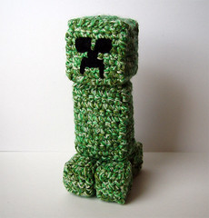 Crocheted Minecraft Creeper