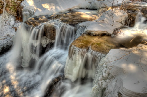 newyork ice water waterfall falls hdr rensselaerville