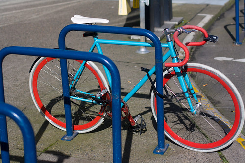 Blue & Red Fixie