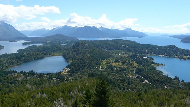 Vue des lacs depuis le Cerro Campanario