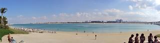 Image of Aquaventure Beach. landscape al dubai atlantis arab burj duabai