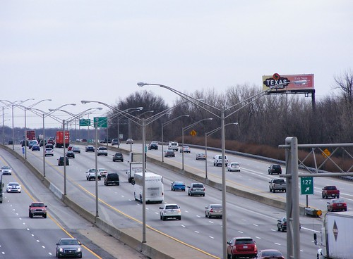 auto road street travel usa bus cars buses car truck flow highway driving view traffic kentucky ky south north overpass semi rush hour transportation commute louisville commuting interstate autos traveling rd i65 65 semis fernvalley
