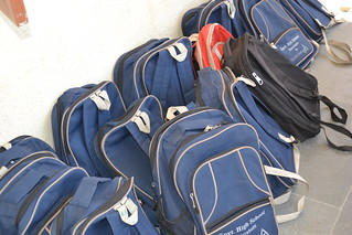 empty backpacks