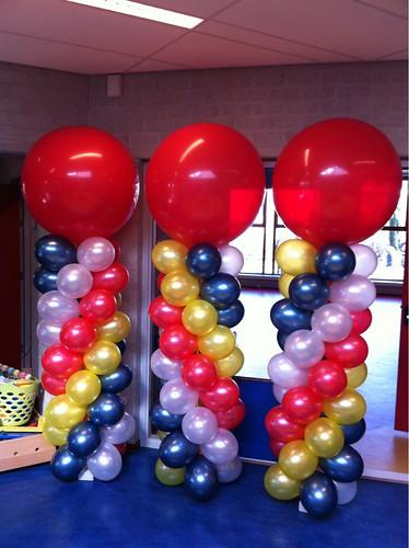 Ballonpilaar Breed Rond open dag Basisschool de Piramide Ridderkerk