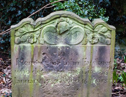 Lichen on gravestones: Tettenhall