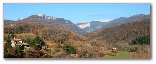 panorama france hiver bleu provence vercors drome 2010 valon dromeprovencale beaufortsurgervanne parcrégionalnaturelduvercors