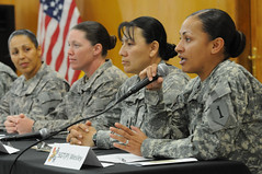 "An interactive discussion on the theme of ""Women Serving in Combat"""