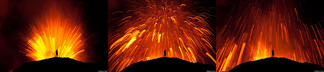 Dancing with the Devil Sequence - Erupting Volcano in Fimmvörðuháls/Eyjafjallajökull Iceland 2010