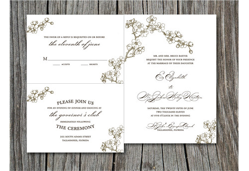 wedding reception card wording