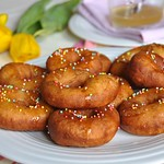 Potato Doughnuts with Honey