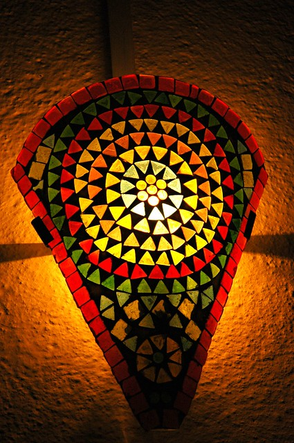 Eastern Stained Glass Bauble Lights