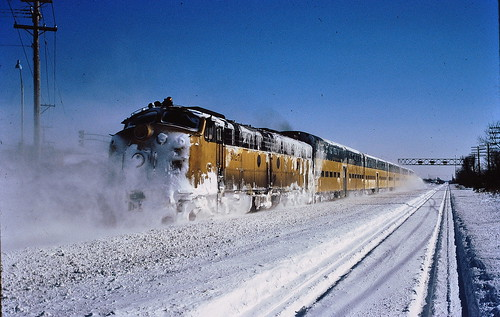 Snow storm with the CNW 1979