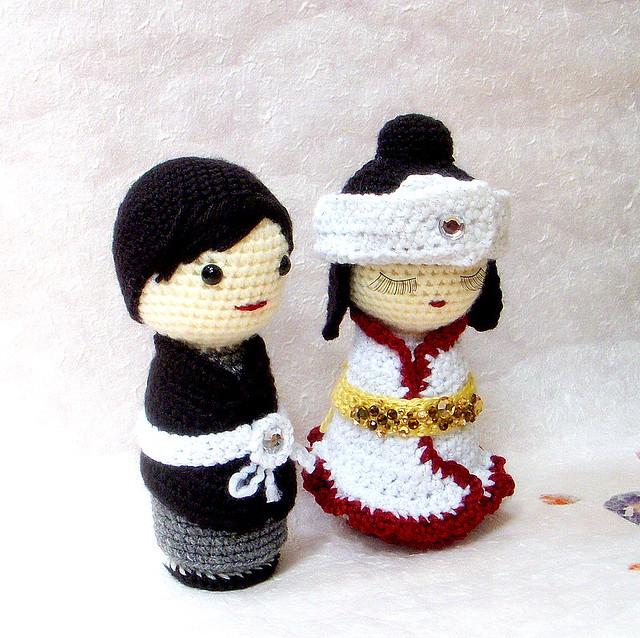 Amigurumi June Gilbank : Japanese Wedding-amigurumi Kokeshi doll Flickr - Photo ...
