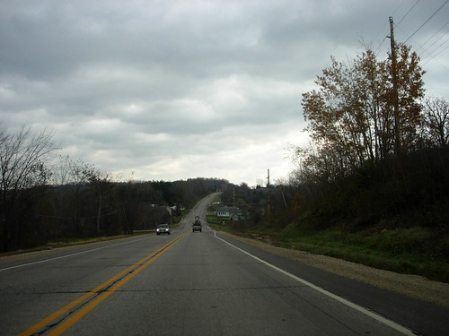 U.S. 10 eastbound, approaching Trembelle, Wisconsin