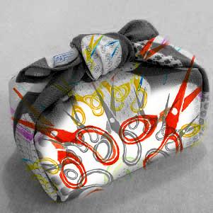 515387a9ef0 Furoshiki  Eco Gift Wrap Using Scarves - Venusian Glow