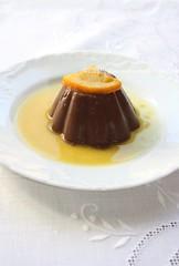Budino al cioccolato e arancia