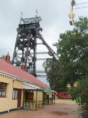 Ferris and Headgears Tower Above the Gold Pour