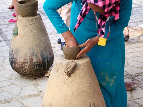 Old clay pot maker