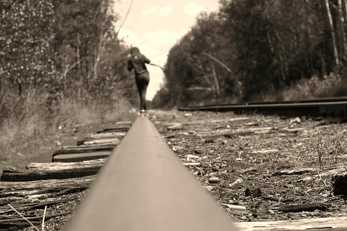 Walking on some train tracks