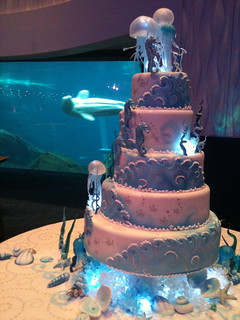 Aquarium Wedding Cake