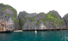 Ko Phi Phi small beach panorama