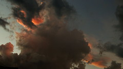 wildfire(0.0), fire(0.0), disaster(0.0), explosion(0.0), cloud(1.0), smoke(1.0), sky(1.0),