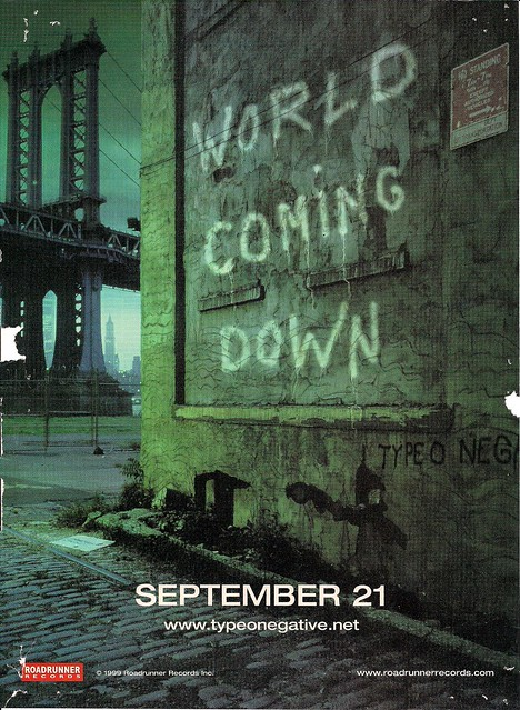 1999 Type O Negative World Coming Down Ad (#1)