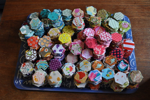 Hexies on a tray