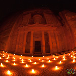 Fisheye View of Petra at Night - Jordan