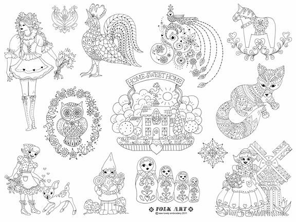 Folk art embroidery pattern flickr photo sharing