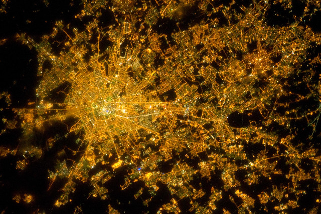 Milan, Italy at Night (NASA, International Space Station, 02/22/11)