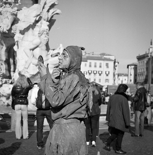 "Image titled ""Street performer, Rome."""