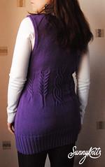 Long cabled vest