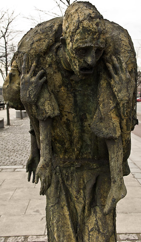 Famine (1997) on the Custom House Quay in Dublin