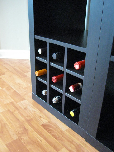 Ikea expedit wine storage flickr photo sharing for Wine shelves ikea