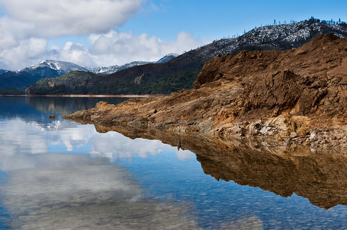 ca lake snow reflection water rock clouds landscape clarity whiskeytown lowlake nothdr