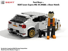 SEAT Leon MkIII Cupra 3-Door Hatchback -  MQB (Eurobricks Miniland Car Design Competition)