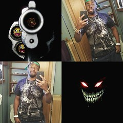 The Demon within has a gun to my Head, so I have to get out therr and make, and let him loose wen haters show their face.. He demands it, so I concede..