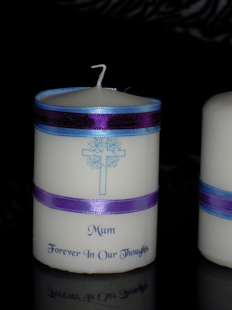 Hand decorated Miniature Wedding Memorial Candles