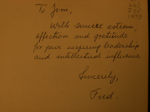 Inscription from Fred