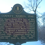 Knox County Historic Marker