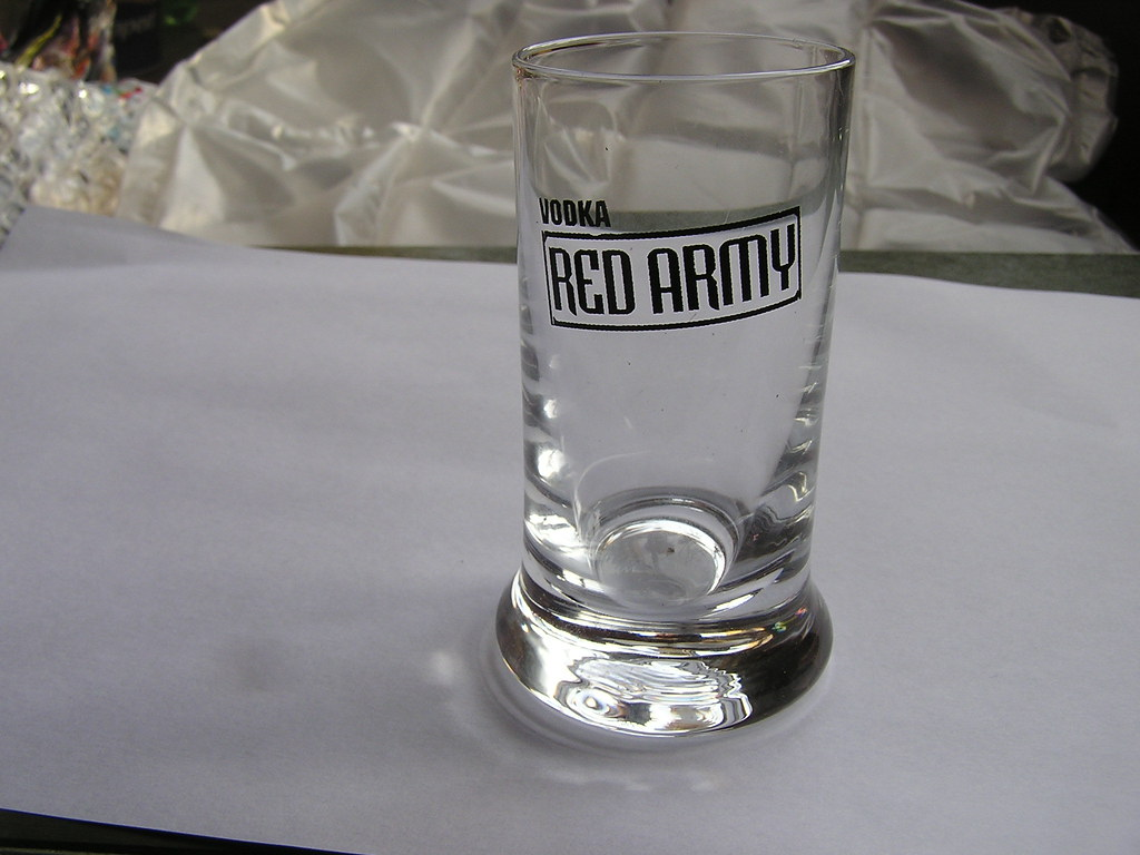 Red Army Vodka shot glass