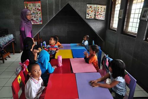 anak-anak prasejahtera di rumah singgah Melody (lokasi: Bintaro - Jakarta)