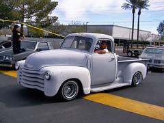 1941 ford(0.0), custom car(0.0), mid-size car(0.0), compact car(0.0), hot rod(0.0), automobile(1.0), automotive exterior(1.0), pickup truck(1.0), vehicle(1.0), truck(1.0), chevrolet advance design(1.0), antique car(1.0), land vehicle(1.0), motor vehicle(1.0),