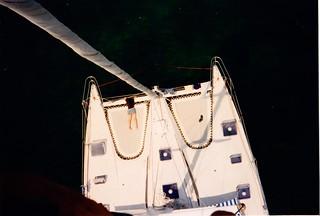 Le catamaran vu depuis Minorque