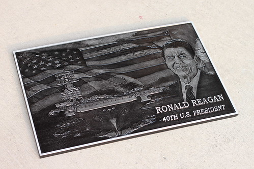 Photo Relief Plaque in Cast Aluminum