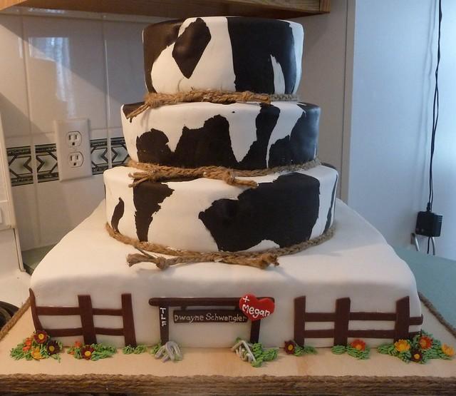 Western themed wedding cake