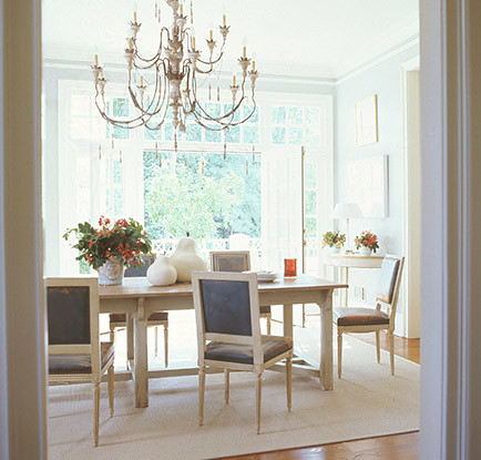 Suzanne kasler dining room light blue flickr photo for Light blue dining room ideas